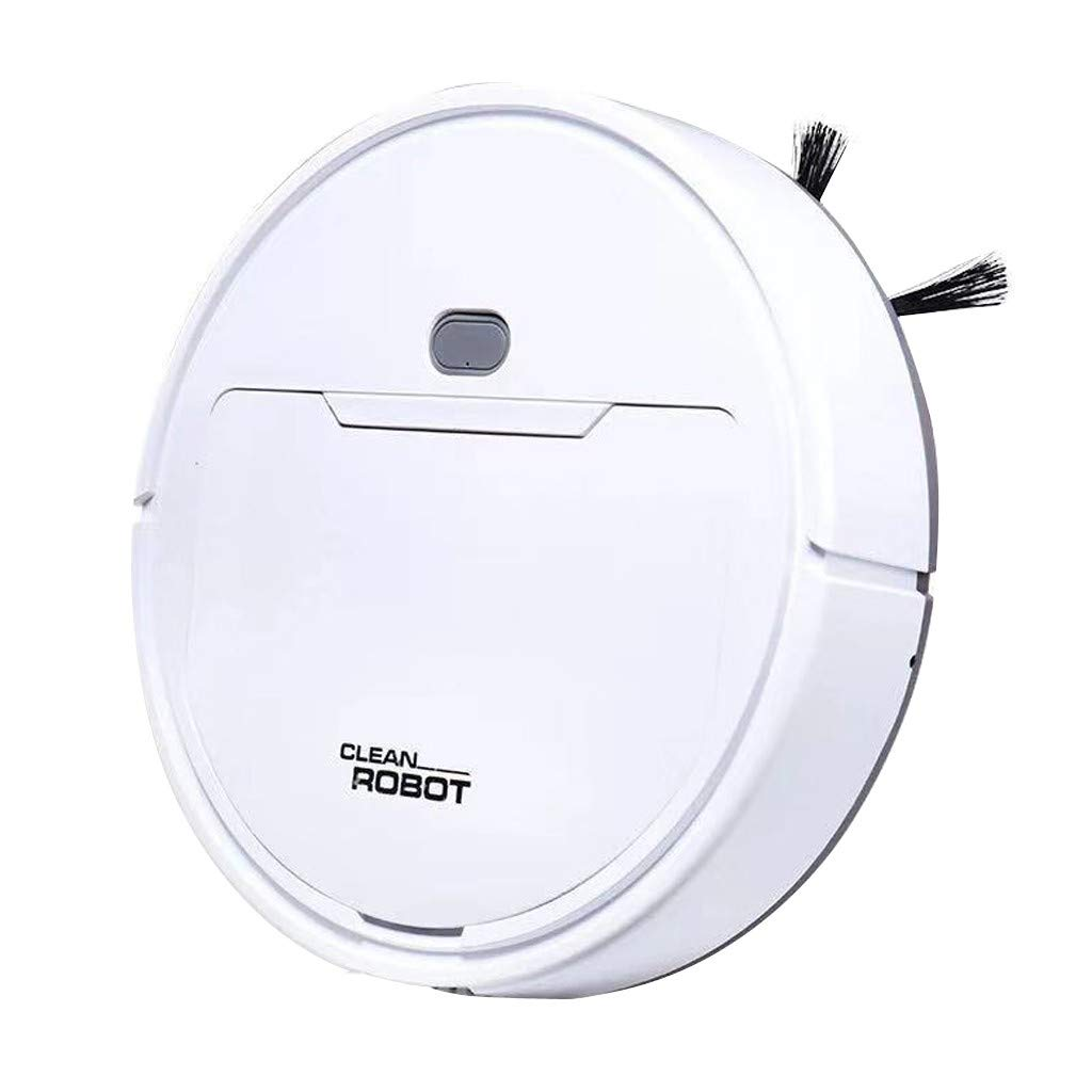 Fan-Ling Mini Small Sweeping Robot,Home Charging Smart Vacuum Cleaner Sweeping Drag,Sweeper Clean Automatic Robot Vacuum Cleaner Robotic Auto Home Cleaning Guard (White)