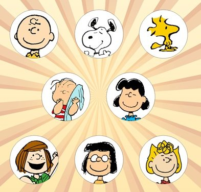 Peanuts A Set of 8 - 1 Inch Pinback (Peppermint Patty Costumes)