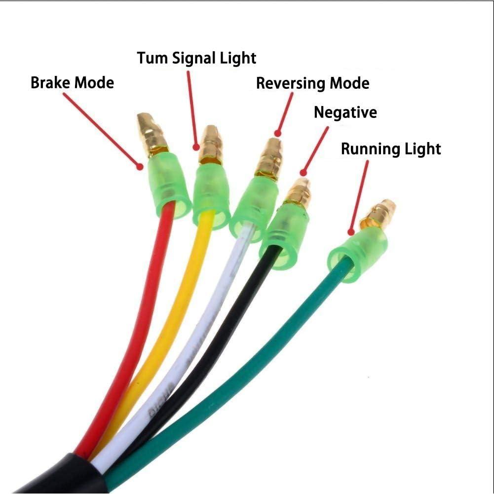 SELUXU 2 PCS 12//24 V 24 LED Voiture Arri/ère Remorque Feu arri/ère /Étanche Frein Arr/êt Clignotants Lampe-WM