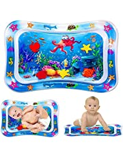 Bellababy Tummy Time Baby Water Mat for Infants & Toddlers Early Development Activities, Sensory Toys Gifts for Newborn 3 6 9 12 Months Boy Girl