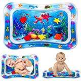 Bellababy Tummy Time Baby Water Mat for Infants & Toddlers Early Development Activities, Sensory Toys Gifts for 3 6 9 12 Mont