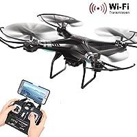 Hotsale! Gift For Xmas! X5SW-1 Wifi FPV RTF 2.4G 4CH RC quadcopter Camera Drone with HD Camera UAV (Black)
