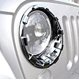 Automotive : IParts Triple Chrome Plated Headlight Bezel Trim Cover For Jeep Wrangler Accessories Rubicon Sahara JK 2007 2008 2009 2010 2011 2012 2013 2014 2015 2016 2017