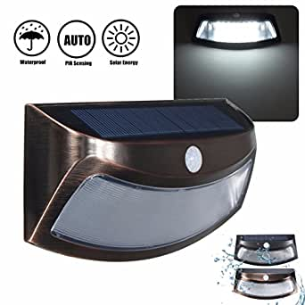 Glisteny Solar Lights 8 Led Power Pir Motion Sensor