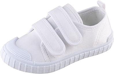Kids Velcro Canvas Shoe Uniform White