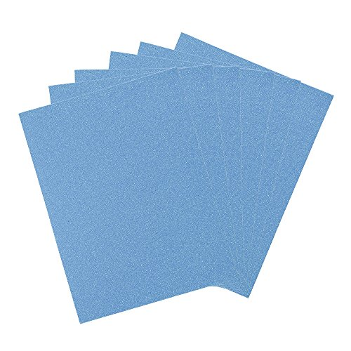 Mega Crafts 6 Pcs Metallic EVA Foam Sheets 9'' X 12'' | Sparkly Blue Glitter Papers With Adhesive Back, Easy To Stick | For Scrapbooking, Arts & Crafts, Party Masks, ()
