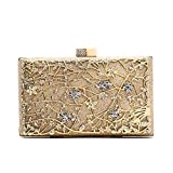 Migubal Evening Clutch Bags, Pearl Beaded Evening Bag Night Purse Handbag For Women Wedding Prom Party (Gold)