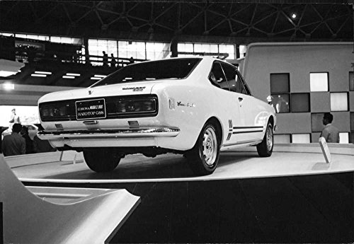Vintage photo of Toyota Hardtop GSS The T80 series Corona was introduced February 1970 and was a complete redesign, and was developed on a separate platform from the Toyota Corona Mark II, which became a larger, more comfortable and powerful car, where the Corona remained focused on fuel economy. Body styles were further reduced to a two-door hardtop coup233;, a four-door sedan and station wagon.