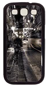Samsung Galaxy S3 Case Cover - Gray City Night View Customzie Case for Samsung S3 SIII I9300 - Polycarbonate - Black