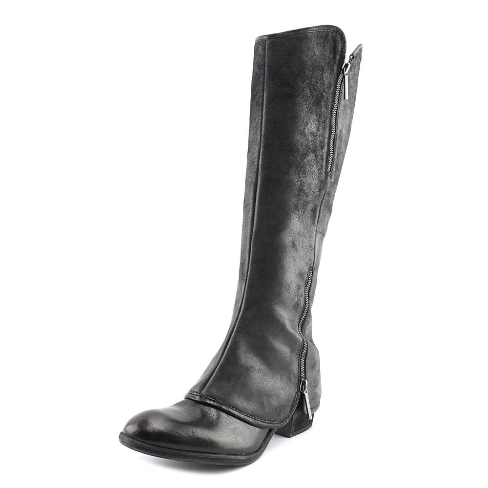 c1e71334652 Donald pliner devi womens black reverse calf leather boot knee high jpg  1000x1000 Donald pliner boot