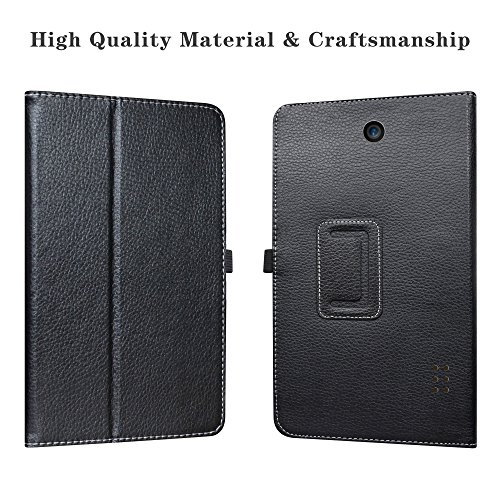 """Nook Tablet 7 2016 Case,LiuShan PU Leather Slim Folding Stand Cover for 7"""" Nook Tablet 7 2016 BNTV450 Android Tablet(do not fit Other Tablet),Black"""