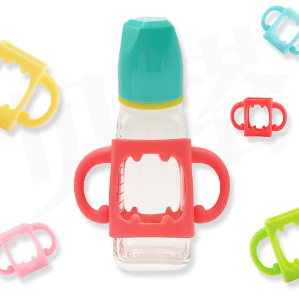 Rryilong Babyflaschengriff Bottle-Halter,Weiches Silikon,Zubeh/ör F/ür Hitzebest/ändige Saugflaschen