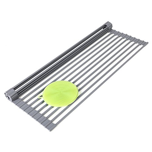 Roll-Up Dish Drainer Rack