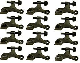 Nuk3y Hinge Pin Oiled Rubbed Bronze Heavy Duty Door Stop (12-Pack)