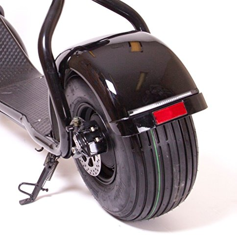 eDrift UH ES295 2.0 30MPH Electric Fat Tire Scooter Moped with Shocks 2000w Hub Motor Harley E Bike