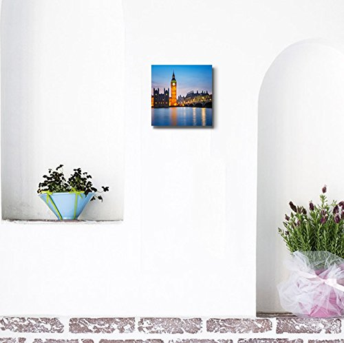 Beautiful Scenery of Big Ben and Houses of Parliament at Night London Wall Decor