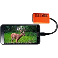BoneView Trail Camera Viewer for Micro-USB Android Phones ONLY, SD & Micro SD Memory Card Reader to View Deer Hunting Photo or Video of any Motion Scouting Game Cam on Smartphone or Tablet