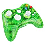xbox 360 led controller - Kycola Xbox 360 Controller GC21 Wireless PC Gamepad LED Controller Transparent Joystick For Xbox 360/PC(Green)