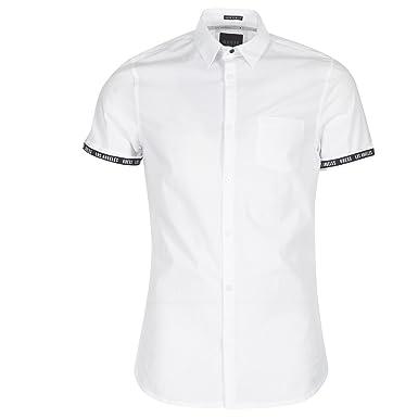 GUESS camisa blanca manga corta de hombre (XL - Blanco)