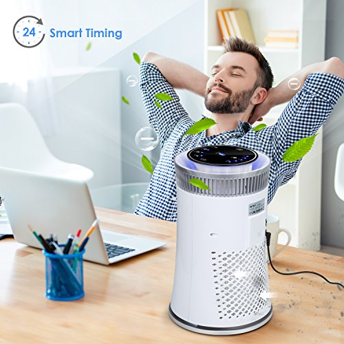 Intey 5 Speed Air Purifier With 25db Hepa Amp Active Carbon