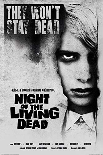 Night of the Living Dead movie poster print