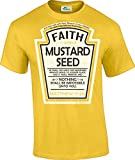 Hip Together Faith as a Grain of Mustard Seed Christian Parody T-Shirt (XL)