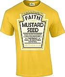 Hip Together Faith as a Grain Of Mustard Seed Christian Parody T-Shirt (XL)