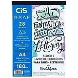 Bloco Exercícios Lettering A4, CiS, Graf, Karol Stefanini, 180gr, 28 Folhas