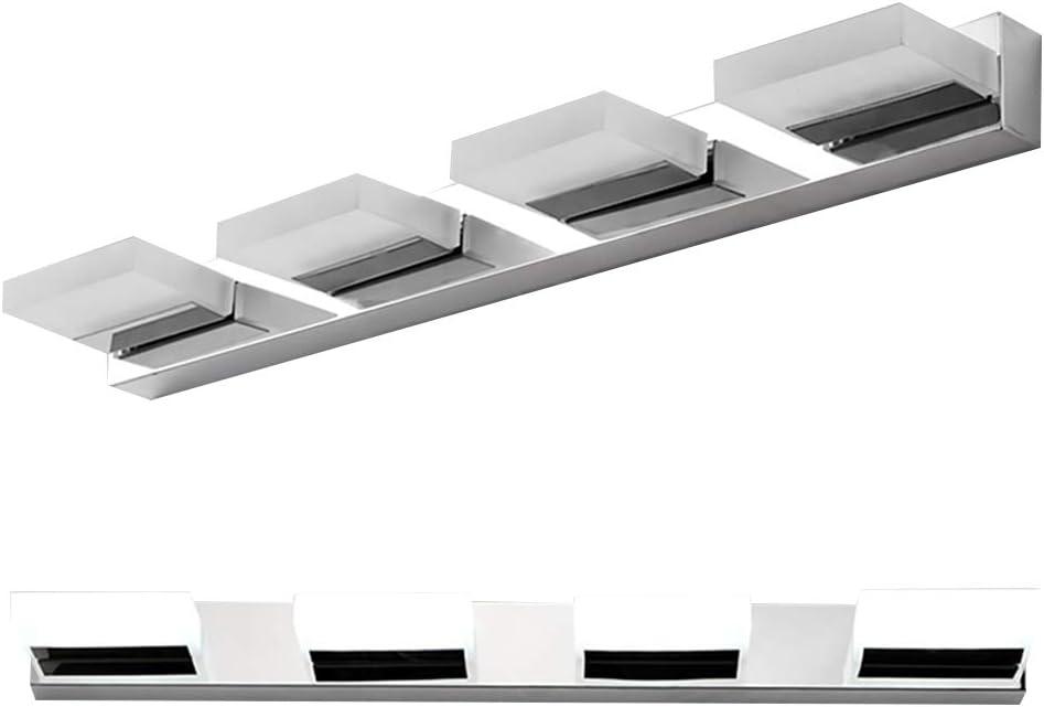 LEDMOMO 12 W Bathroom Vanity Light Modern Minimalista LED acrílico Espejo de Acero Inoxidable lámpara Frontal baño Vanity Toilet Wall Lights – Luz Blanca (4 Luces): Amazon.es: Hogar
