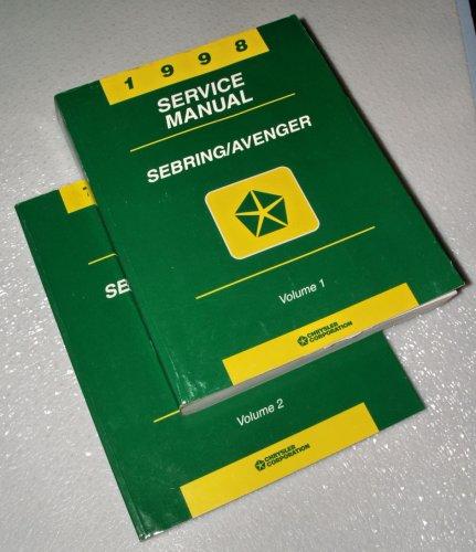 1998 Chrysler Sebring, Dodge Avenger Service Manuals (2 Volume ()
