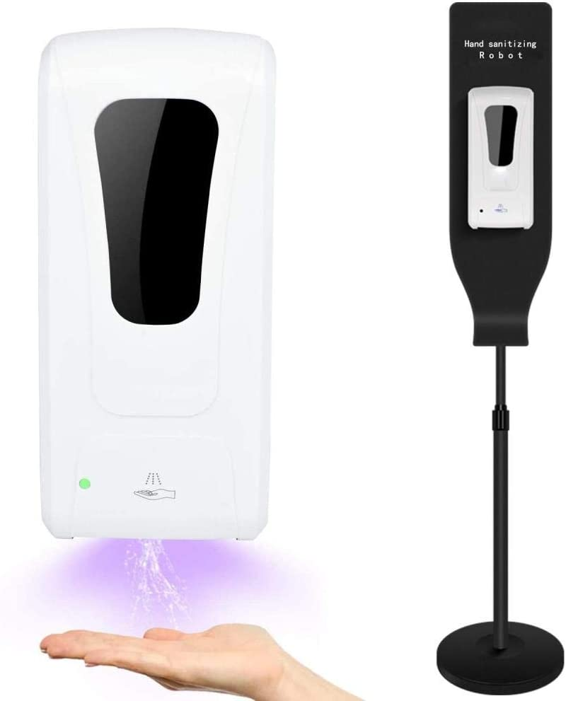 Automatic Hand-Cleaner Dispenser, Station System Auto-Sensing Mist Spray Machine 1000ML For Offices, Hospitals, Schools (Dispenser + Stand)