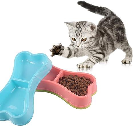 Catkoo Accesorios para Gatos, comedero de Comida para Mascotas ...