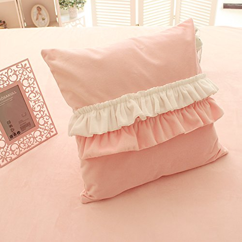 FADFAY Girls Bedroom Throw Pillows Decorative Bed Pillows,4 Pieces-Pink