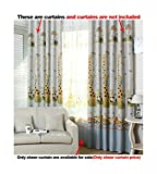 ASide BSide Anime Style Rod Pockets Sheer Curtains Giraffes Bears Printed Home Treatment Voile Drapes For Kitchen Sitting Room and Child Room (1 Panel, W 52 x L 63 inch, White)