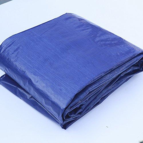 QIANGDA Tarpaulin Waterproof Frost Resisting Easy Folding Anti UV Anti-wind, 200g/m², Thickness 0.3mm, Blue+gray, 4 Sizes Optional, Size Customizable (Size : 8 x 10m)