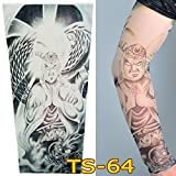 1Pc Unisex Nylon Elastic Temporary Tattoo Sleeve Body Arm Stockings UV Protection Tattoo Arm Sleeves for Men Tattoo Sleeves Cover up Stretchable Cosplay Costume Accessories - Running, Cycling (B)