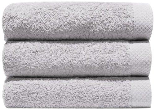 Home Basic - Juego de 3 toallas para tocador, 33 x 50 cm, lavabo, 50 x 100 cm y ducha, 70 x 140 cm, color nácar: Amazon.es: Hogar
