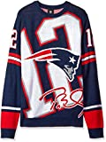 NFL New England Patriots Unisex Brady T. #12 Loud Player Sweater - Mens Double Extra Large, Xx-Large