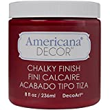DecoArt ADC-07 Americana Chalky Finish Paint, 8-Ounce, Rouge