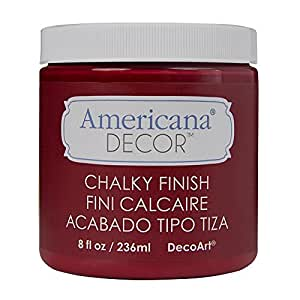 Deco Art ADC-07 Americana Chalky Finish Paint, 8-Ounce, Rouge