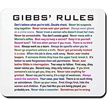 picture about Ncis Gibbs Rules Printable List identified as : NCIS Gibbs Tips - Non-Slip Rubber Mousepad