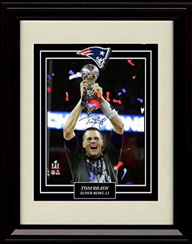Framed Tom Brady Autograph Replica Print - Greatest Game Ever - The GOAT!