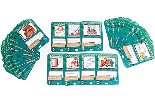 - NEATLINGS Chore Cards Household Deck | 54 Household Chores | Reward & Responsibility | Teal