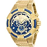 invicta gold watch blue dial - 25542 - INVICTA Bolt Men 52mm Stainless Steel Gold Blue dial VD53 Quartz