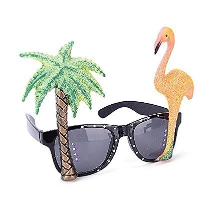 Gafas de sol Welecom con diseño tropical para disfraz ...