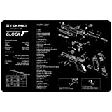 TekMat 11-Inch X 17-Inch Handgun Cleaning Mat with Glock Imprint, Black