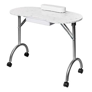 Amazon.com: Zoffyal - Mesa de manicura portátil y plegable ...