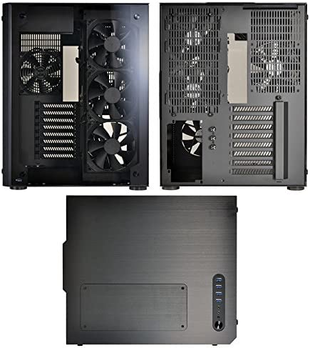 Lian Li PC-O8 WX Midi-Tower Negro - Caja de Ordenador (Midi-Tower, PC, Aluminio, Vidrio, Negro, ATX,EATX,Micro ATX, 17 cm): Amazon.es: Informática