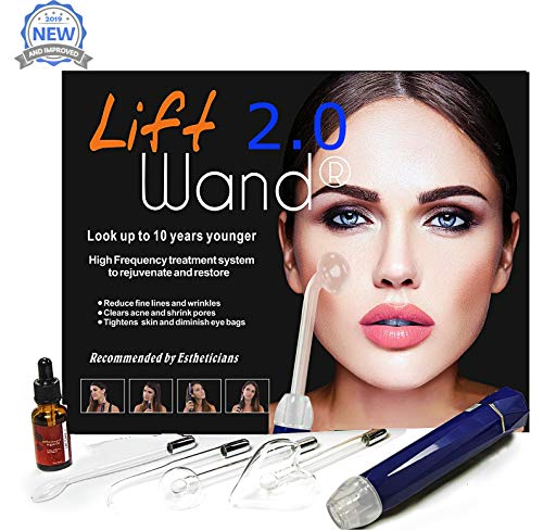 Lift Wand 2.0 High Frequency Machine Anti Aging device, Eliminates Wrinkles and Acne (Lift Wand 2.0) (Best At Home Dermapen)