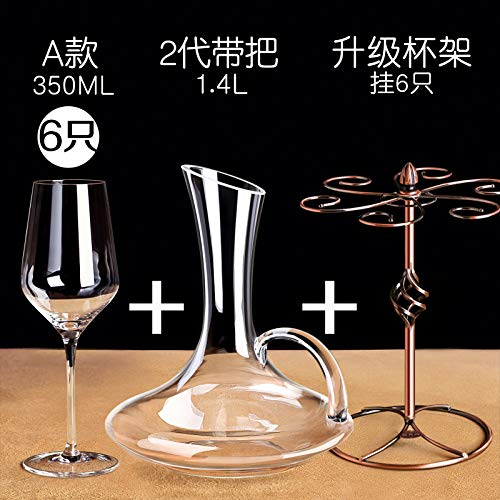 Loroude Red wine glass Red wine glass French crystal diamond couple red wine glass goblet set two, A section 6 with upgrade cup holder